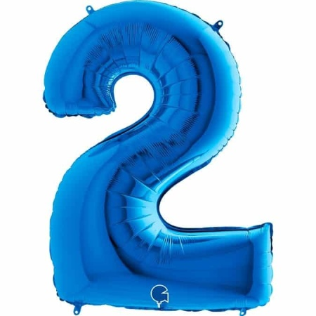 Zahl 2 Blau