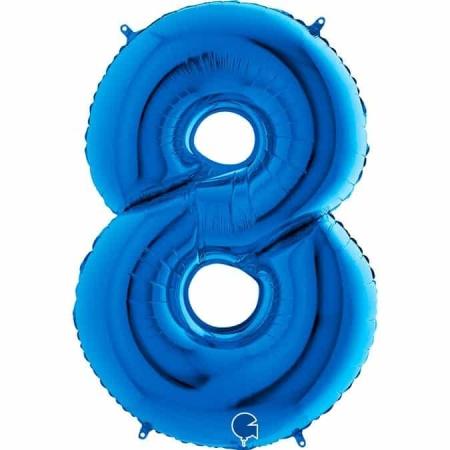 Zahl 8 Blau