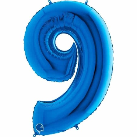 Zahl 9 Blau