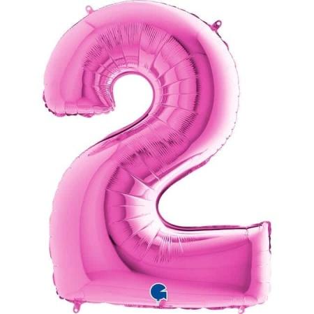 Zahl 2 Pink