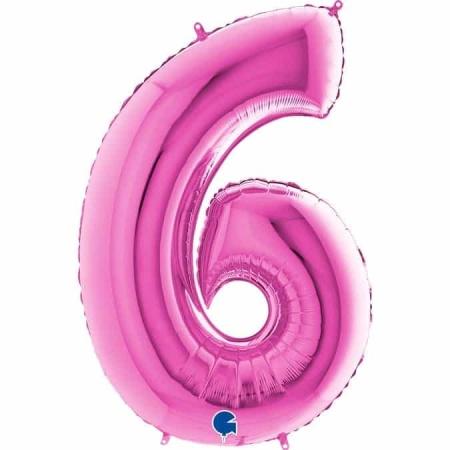 Zahl 6 Pink