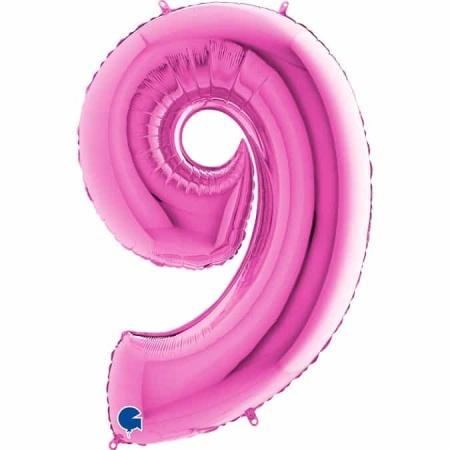 Zahl 9 Pink