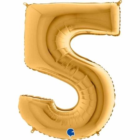 Zahl 5 Gold