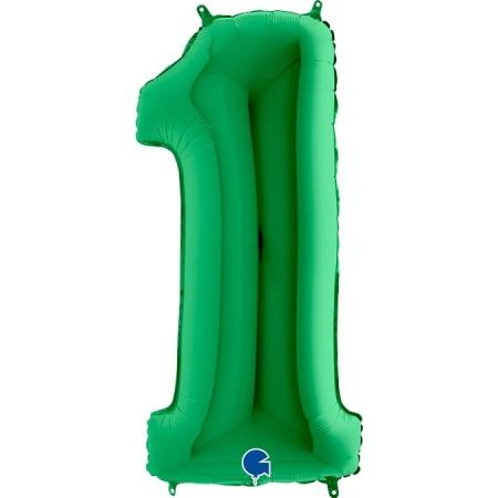 Zahl 1 Grün