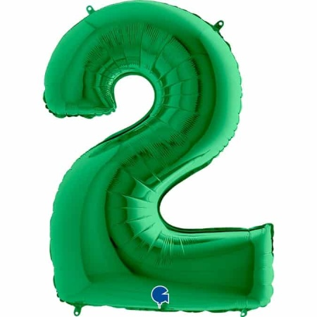 Zahl 2 Grün