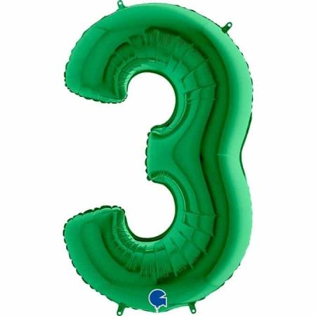 Zahl 3 Grün