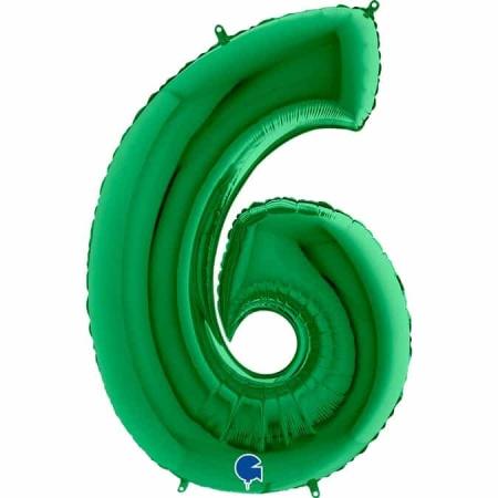Zahl 6 Grün