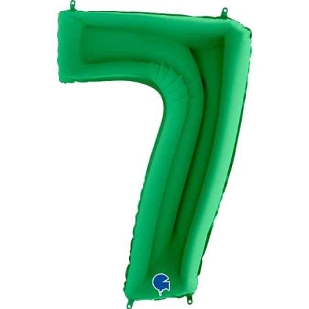 Zahl 7 Grün