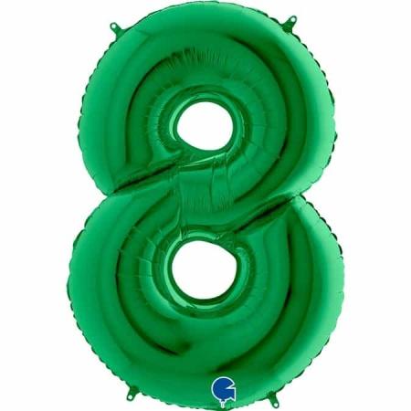 Zahl 8 Grün