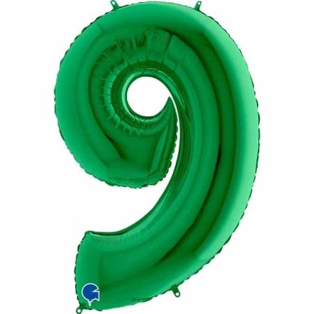 Zahl 9 Grün