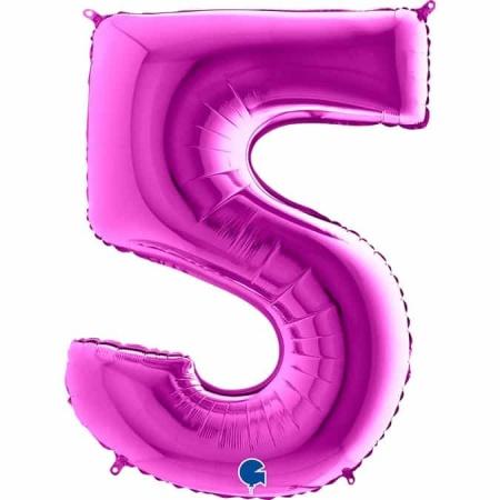 Zahl 5 Lila