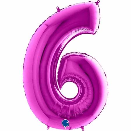 Zahl 6 Lila
