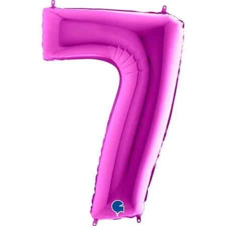 Zahl 7 Lila