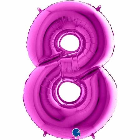 Zahl 8 Lila