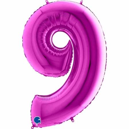 Zahl 9 Lila