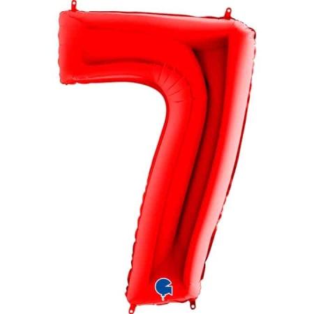 Zahl 7 Rot