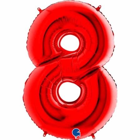 Zahl 8 Rot