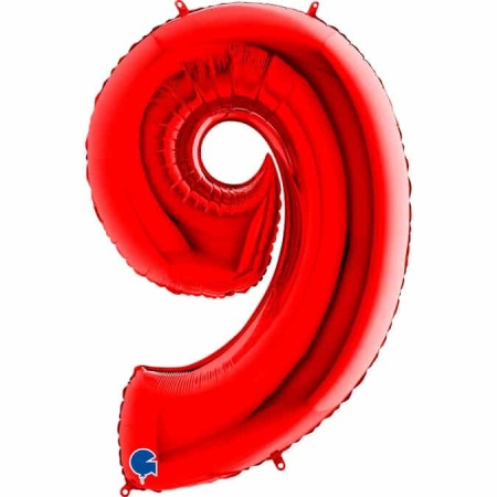Zahl 9 Rot