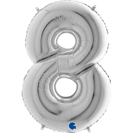 Zahl 8 Silber