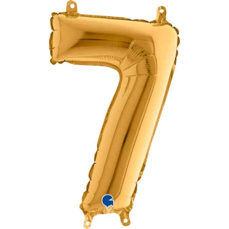 14027G Number 7 Gold mini 14inch