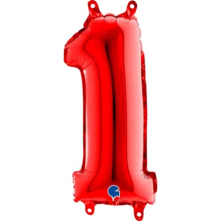 14081R Number 1 Red mini 14inch
