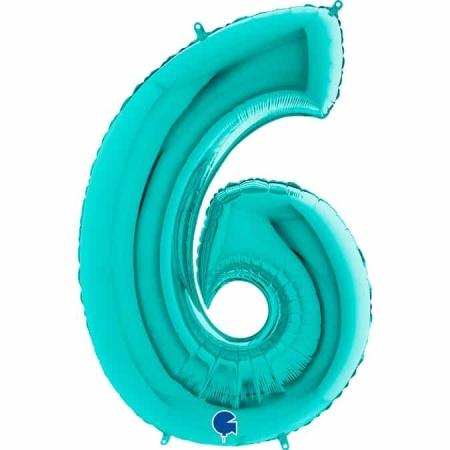 Zahl 6 Tiffany