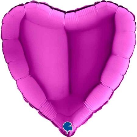 18005P Heart 18inc Purple 1