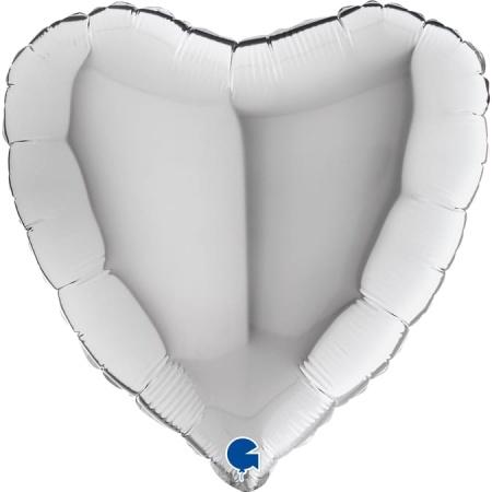 18009S Heart 18inc Silver 1
