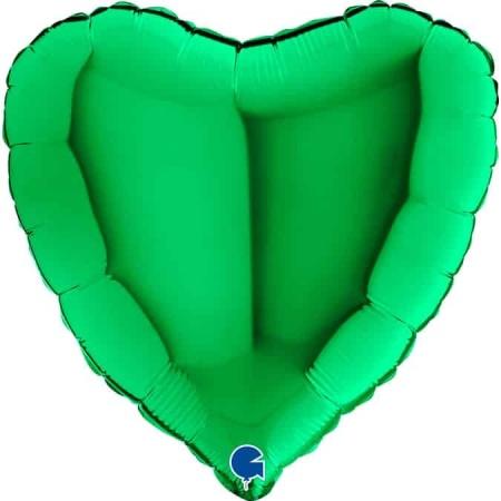 18020Gr Heart 18inc Green 1