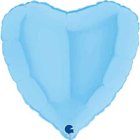 180M00B Heart 18inc Matte Blue 1