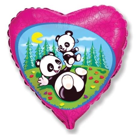 201642 18 inches Funny Pandas Mylar balloons