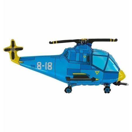 205 helicopter blue