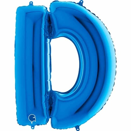 Buchstabe D Blau