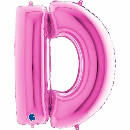 Buchstabe D Pink