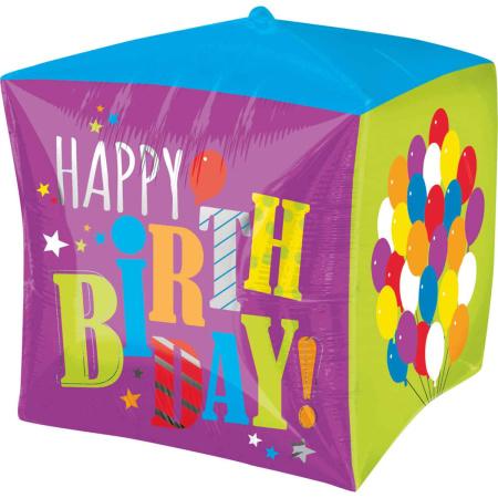 Cubez Bright Happy Birthday Purple