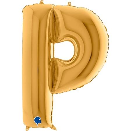Buchstabe P Gold