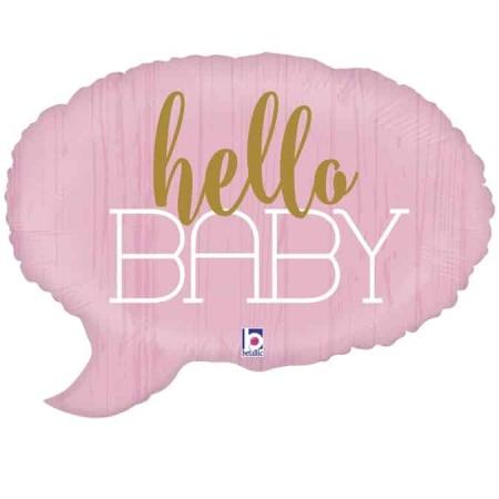 35692 Hello Baby Pink con logo