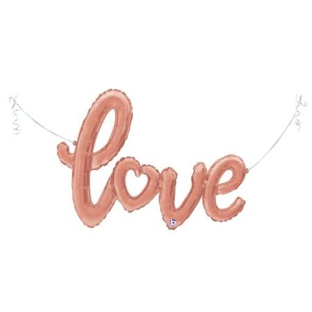 35718 Rose Gold Love Script