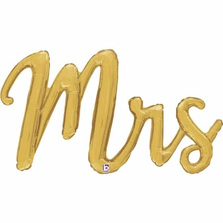 35793 Mrs Script isolated