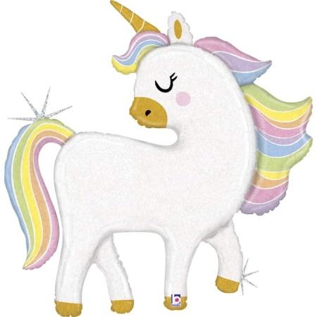 35952GH Glitter Pastel Unicorn