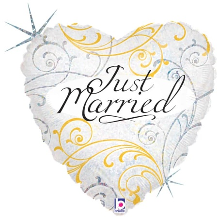36163H H18 Just Married Filigree