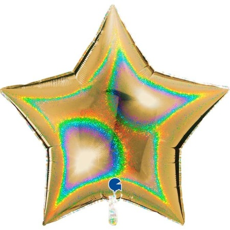 36272GHG5 Star 36inc Glitter Holographic Gold 5 1