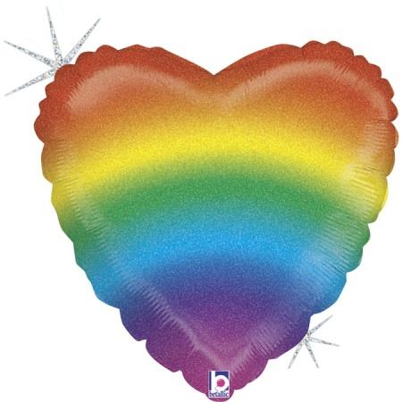 36881GH Glitter Rainbow Heart