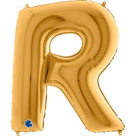 Buchstabe R Gold
