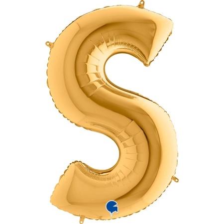Buchstabe S Gold