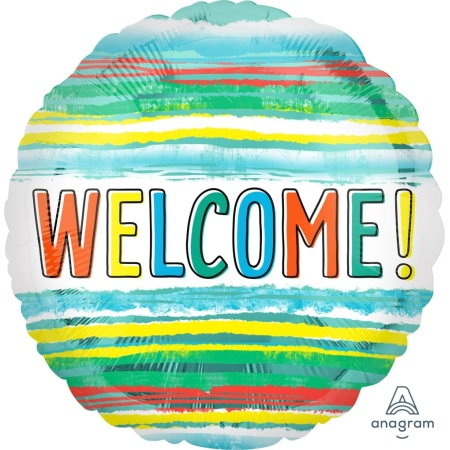 41176 welcome watercolor stripes