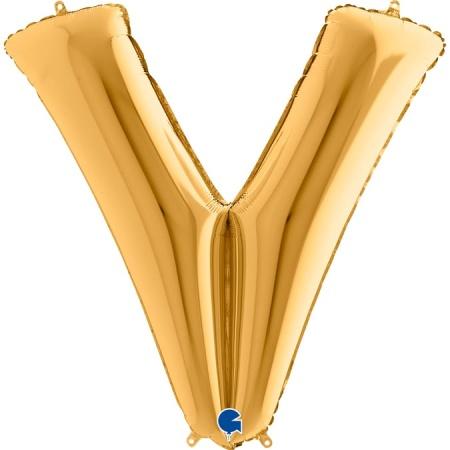 Buchstabe V Gold