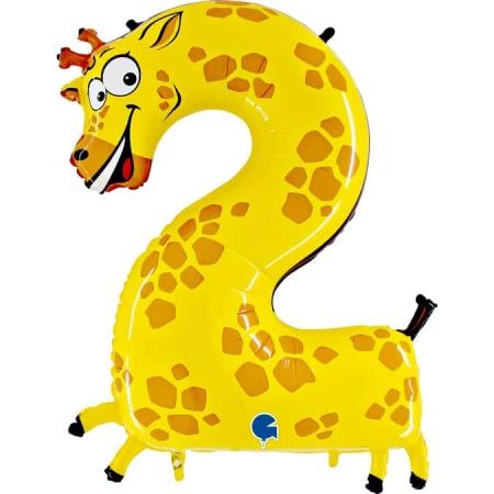 Zahl 2 Giraffe