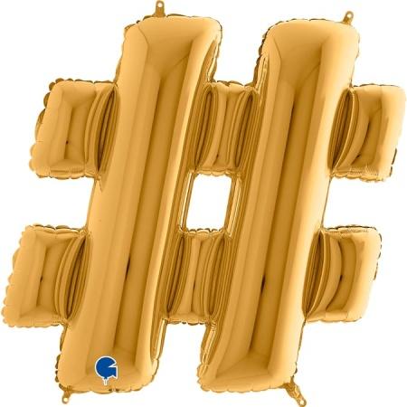 472G Symbol Hashtag Gold