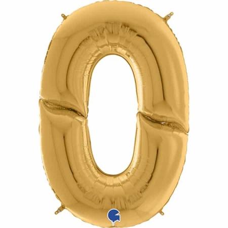 Maxi Zahl Gold 0